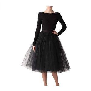 A Line Short Knee Length Tutu Tulle Prom Skirt
